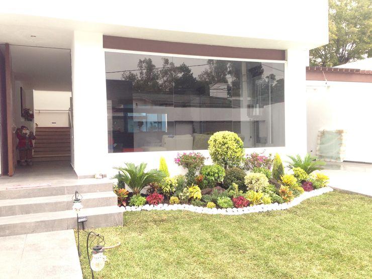Acceso Principal CESAR MONCADA SALAZAR (L2M ARQUITECTOS S DE RL DE CV) Jardines modernos