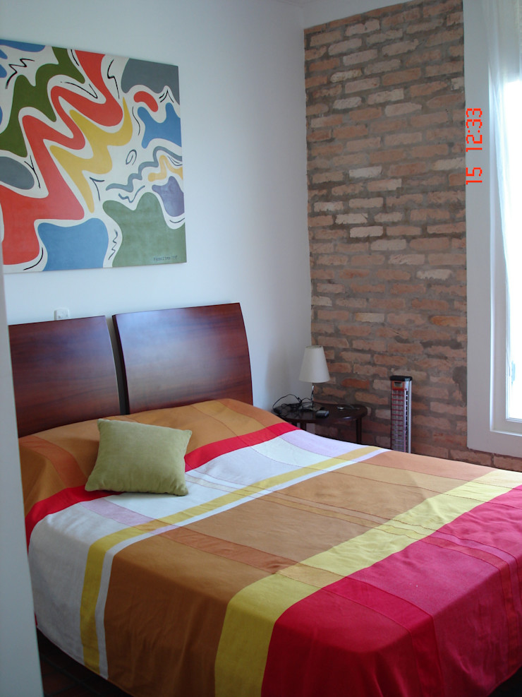 Lucia Helena Bellini arquitetura e interiores Country style bedroom