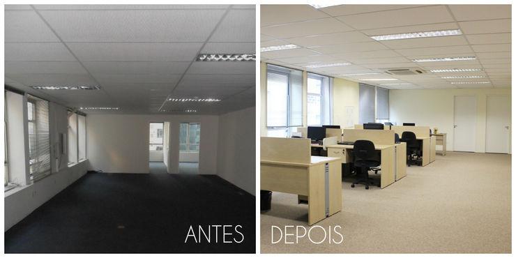 É! Arquitetura e Design Edificios de oficinas Tablero DM Marrón