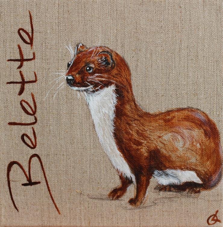 Belette Odile Laresche Artiste Peintre Animalier Chambre d'enfantsAccessoires & décorations