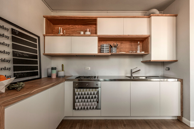 Appartamento Residenziale - Brianza 2014 Galleria del Vento Cucina in stile scandinavo