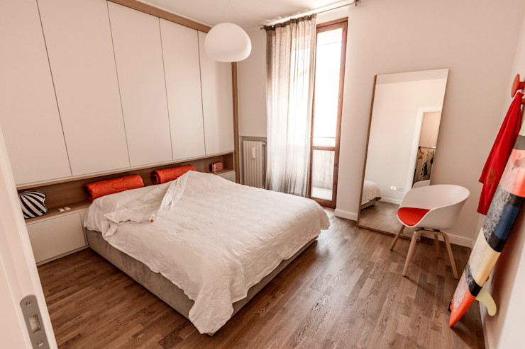 Appartamento Residenziale - Brianza 2014 Galleria del Vento Camera da letto in stile scandinavo