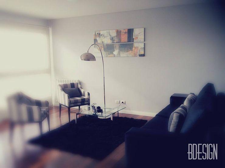 Estudio BDesign Minimalist living room Reinforced concrete Black