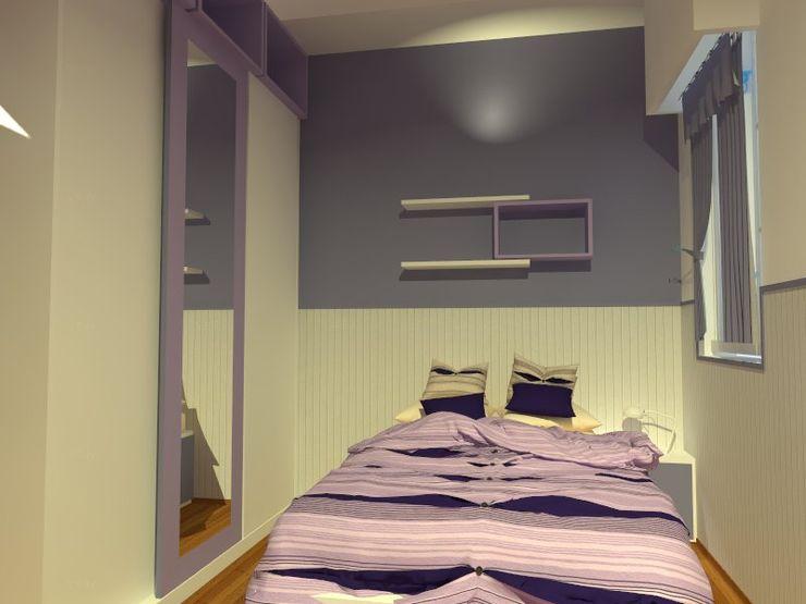 Estudio BDesign Modern style bedroom Wood-Plastic Composite Purple/Violet