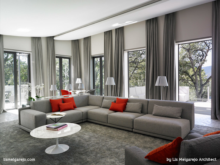 Lis Melgarejo Arquitectura Гостиная в стиле модерн