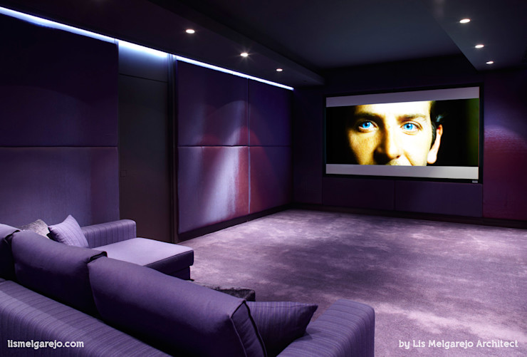 Lis Melgarejo Arquitectura Медиа комната в стиле модерн