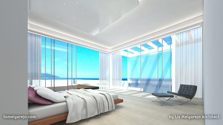 Lis Melgarejo Arquitectura Спальня в средиземноморском стиле