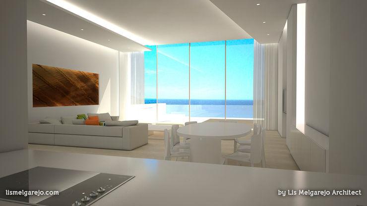 Lis Melgarejo Arquitectura Гостиная в средиземноморском стиле