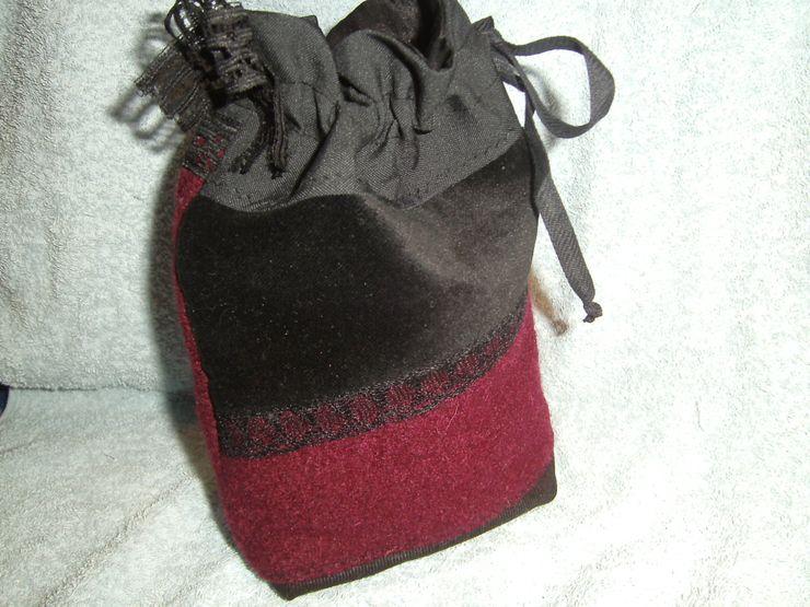 Universaltäschchen,weinrot,schwarz,Patchwork schneiderei jerke AnkleidezimmerAufbewahrungen Baumwolle Schwarz
