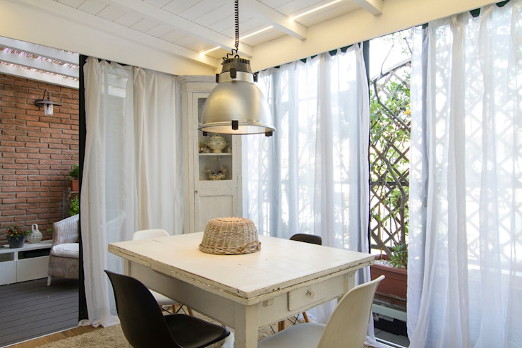 Fabio Carria Balconies, verandas & terraces Accessories & decoration Wood White
