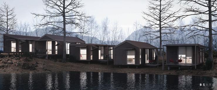 BS ARQ Prefabricated home Metal Brown