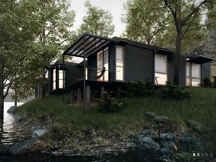 BS ARQ Prefabricated home Metal Black