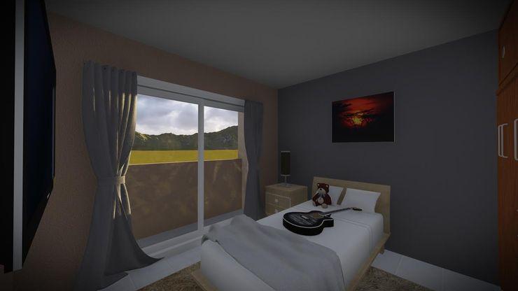 Dormitorio Estudio DB Arquitectura DormitoriosCamas y cabeceros Morado/Violeta