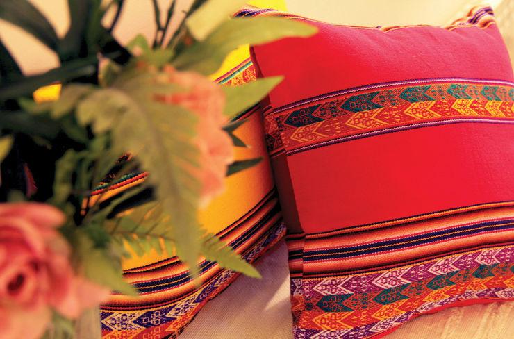 Almohadones Aguayo Peruano Neyque HogarDecoración y accesorios Textil Amarillo