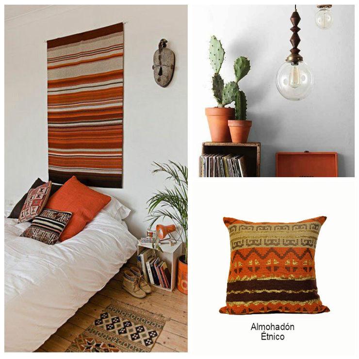 Almohadón étnico Neyque HogarDecoración y accesorios Textil Naranja