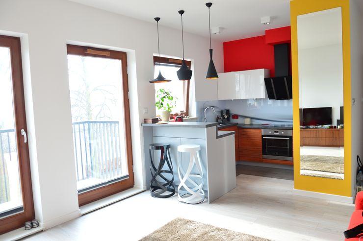 Tetate Projektowanie Wnętrz Cocinas de estilo moderno Blanco