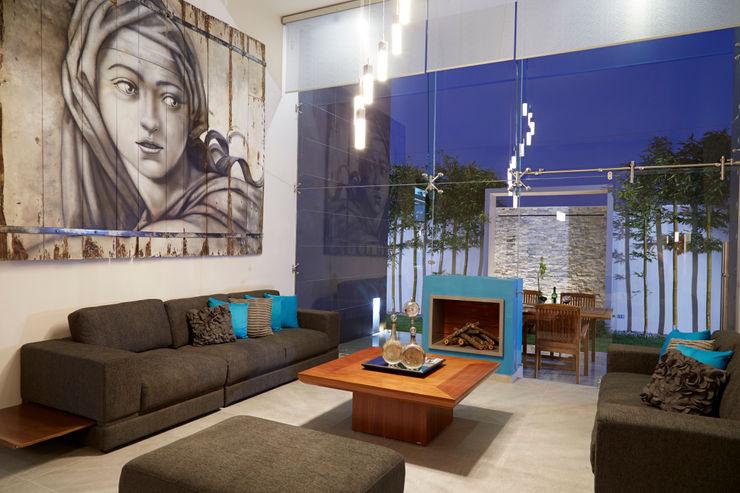 estancia arketipo-taller de arquitectura Salones de estilo minimalista