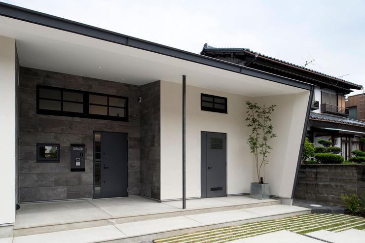 Sakurayama-Architect-Design Moderne Häuser Weiß