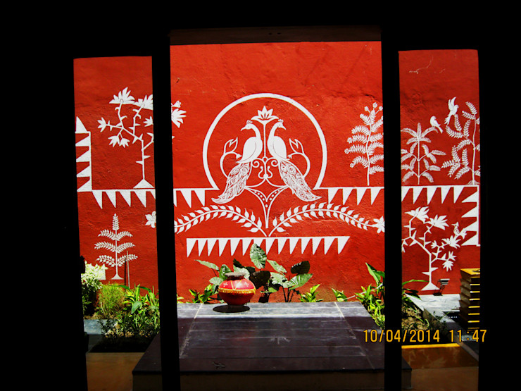THE CAFTED HOUSE ar.dhananjay pund architects & designers Asian style dining room