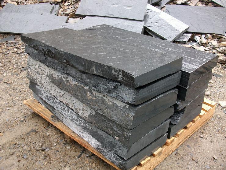 pizarra y tejado Walls & flooringTiles Stone Black
