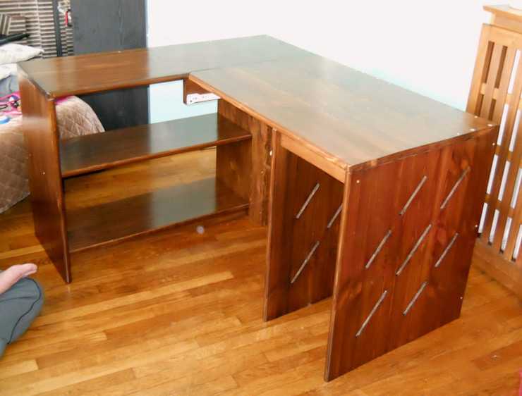 Atelier C'hoat Arverne Studeerkamer/kantoorBureaus Massief hout Bruin