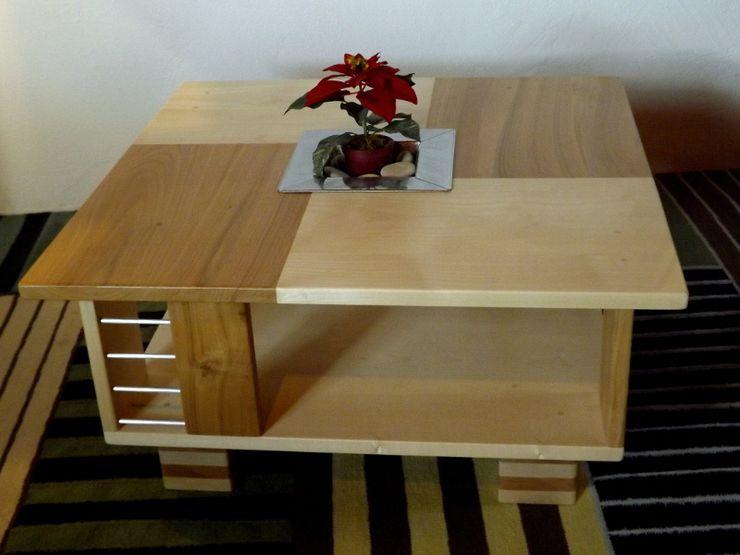 Table basse contemporaine en bois et métal Le Meuble Autrement SalonCanapés & tables basses Bois