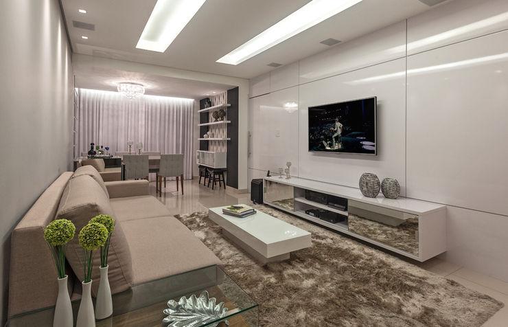 Laura Santos Design 现代客厅設計點子、靈感 & 圖片