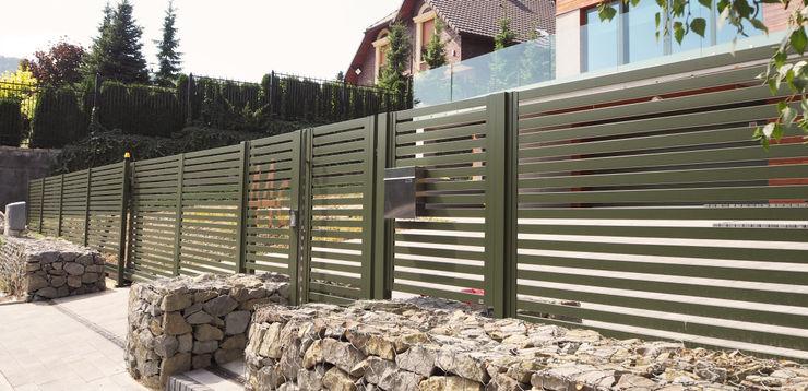 Nive Garden Fencing & walls Aluminium/Seng Green