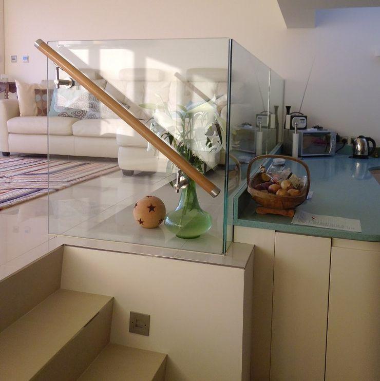 Half height kitchen dividers Ion Glass Modern kitchen Glass