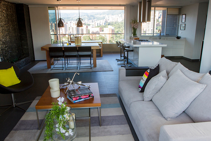 Maria Mentira Studio Livings de estilo moderno Piedra Gris