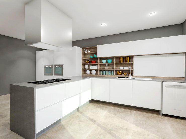 homify Modern style kitchen Marble White