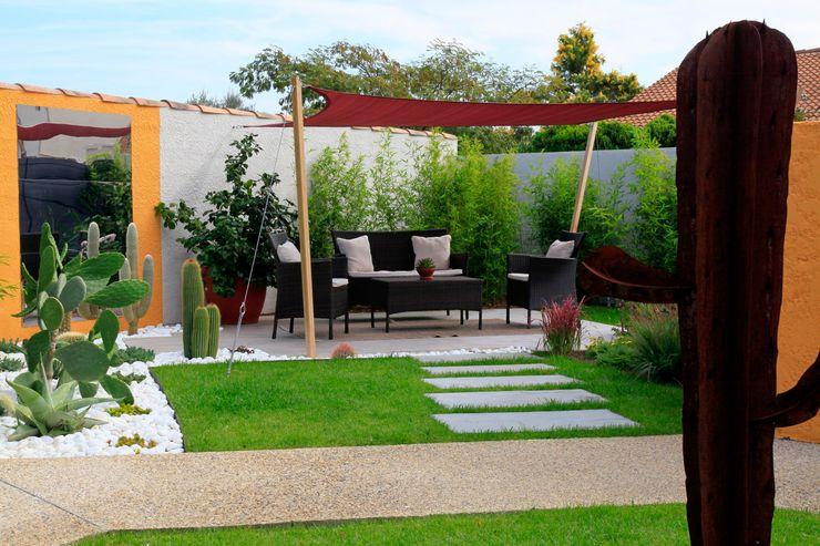 Jardin d'inspiration mexicaine CONCEPTUELLES PAYSAGE ET DECORATION Jardin moderne