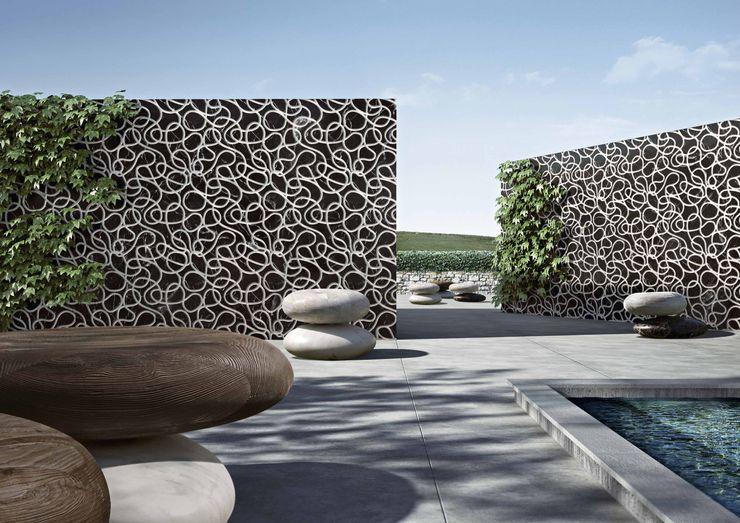 Swimming Pool wallcovering and seats Kreoo Basen Marmur Czarny
