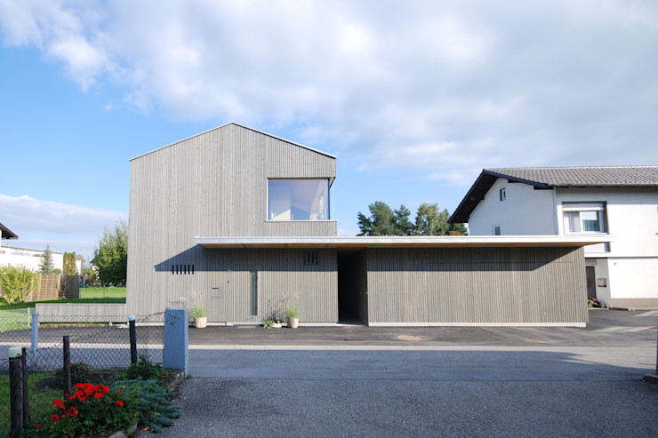 Westansicht schroetter-lenzi Architekten Moderne Häuser