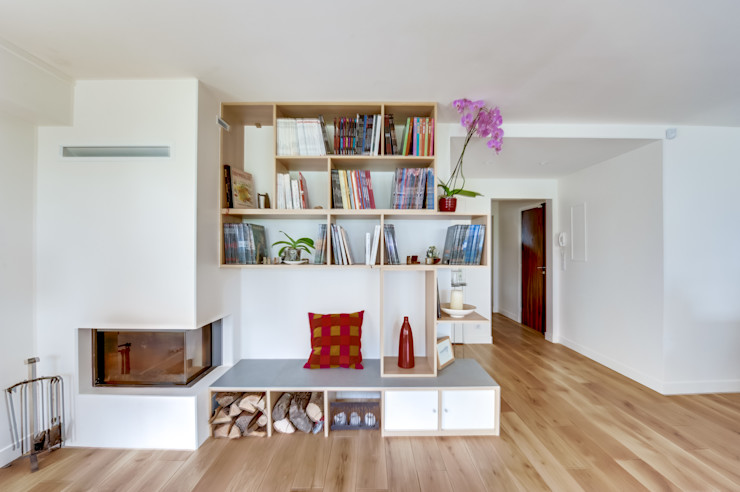 Fireplace. Shoootin Modern living room