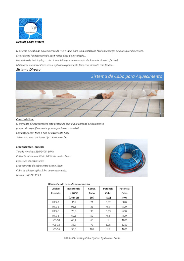 HCS - Heating Cable System