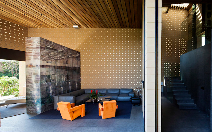 Casa Tierra Serrano Monjaraz Arquitectos Salones modernos
