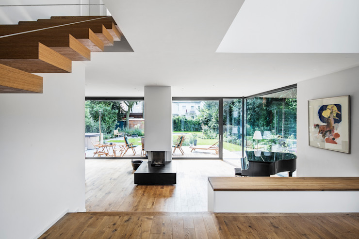 Wohnhaus Köln Junkersdorf Corneille Uedingslohmann Architekten Moderne Wohnzimmer