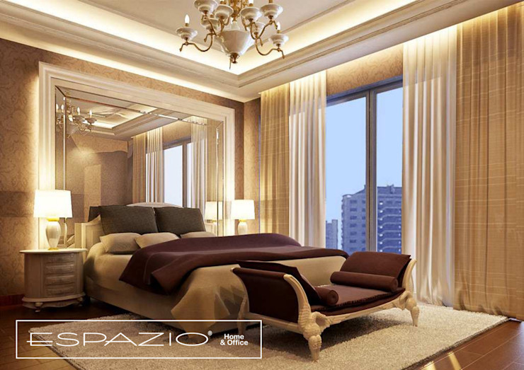 Espazio - Home & Office Classic style bedroom Amber/Gold
