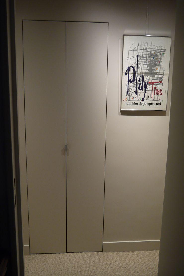 Hollywood – Paris11e Agence Laurent Cayron Couloir, entrée, escaliers modernes
