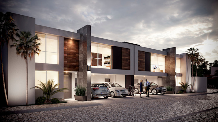 DELTA 現代房屋設計點子、靈感 & 圖片 水泥 White