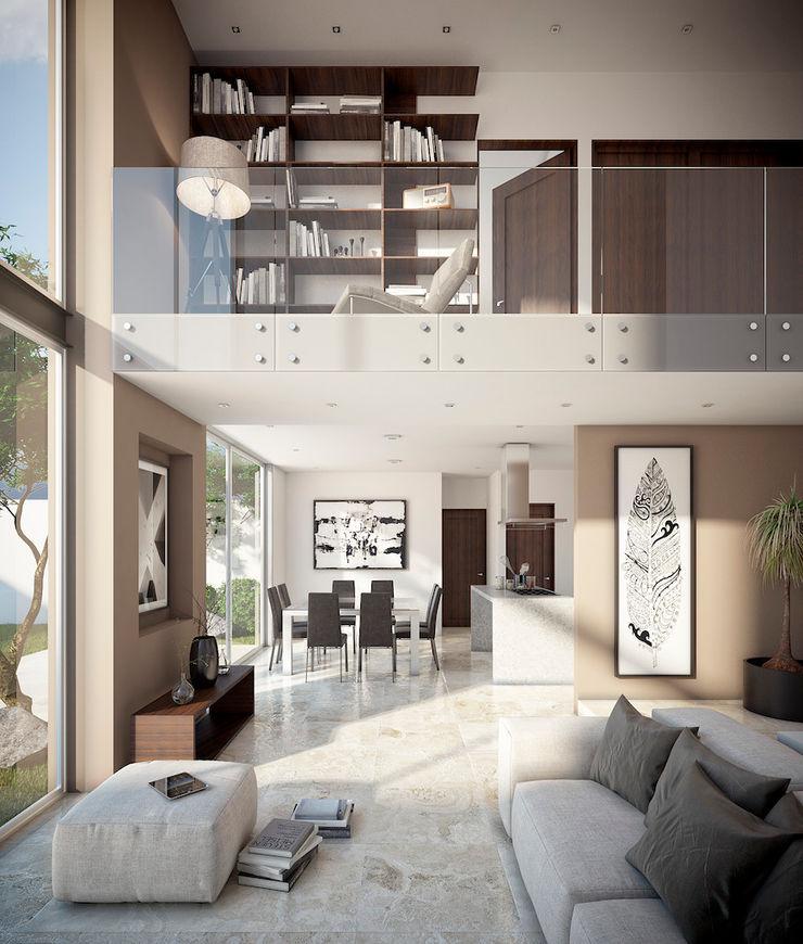 DELTA 现代客厅設計點子、靈感 & 圖片