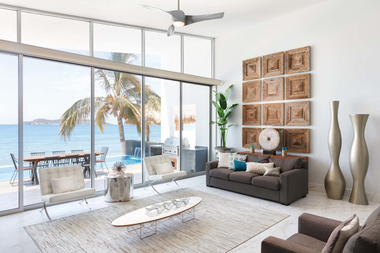 Imativa Arquitectos 现代客厅設計點子、靈感 & 圖片 玻璃 White