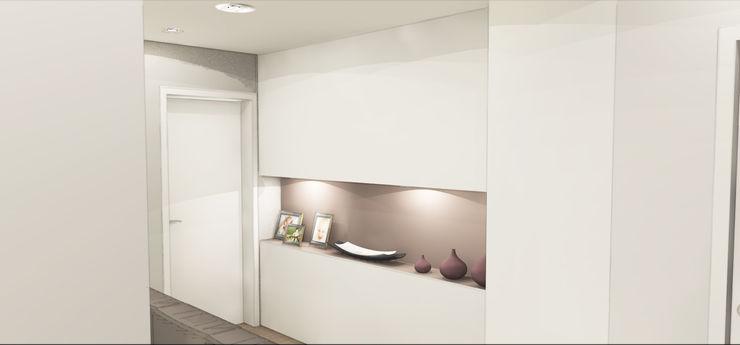 Progetto di ristrutturazione con studio degli interni Architetto Jessica Vaghi Ingresso, Corridoio & Scale in stile moderno