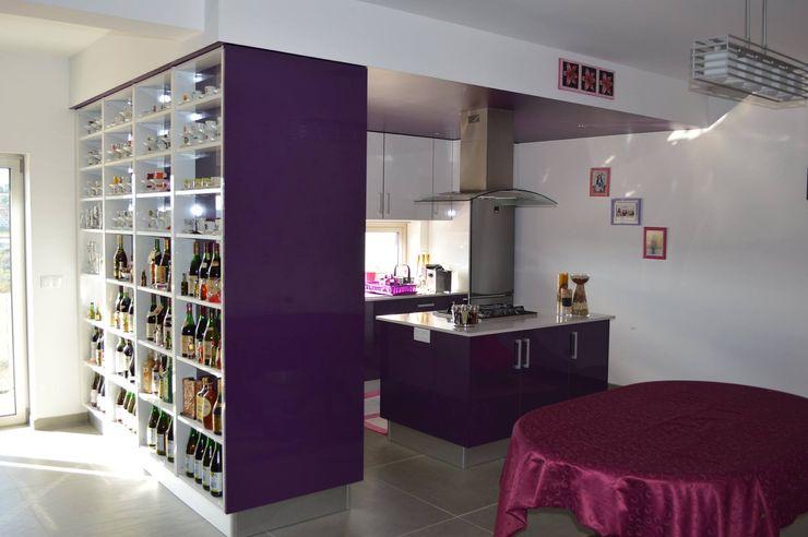 Ansidecor Modern kitchen Purple/Violet