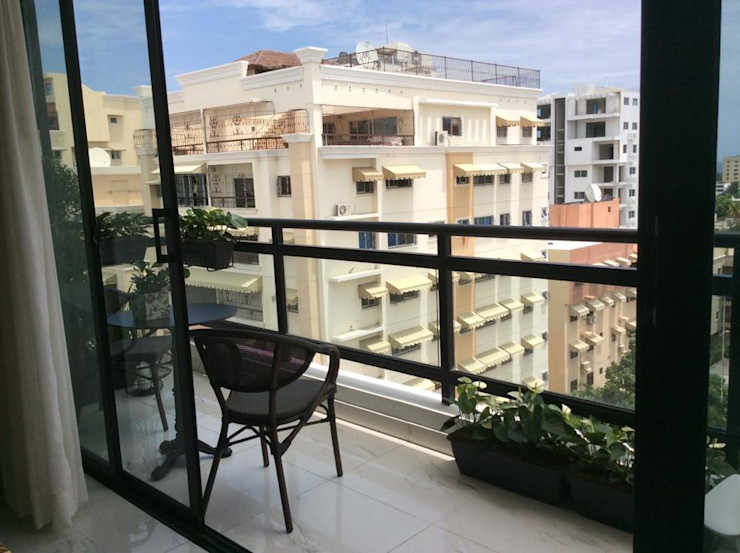 I.g.interiorismo.paisajismo Modern balcony, veranda & terrace