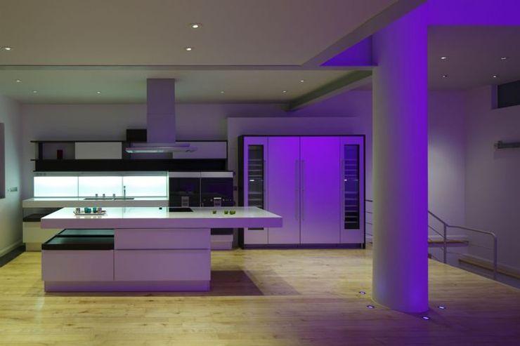 Kitchen Interior Design Quirke McNamara Dapur Gaya Industrial White