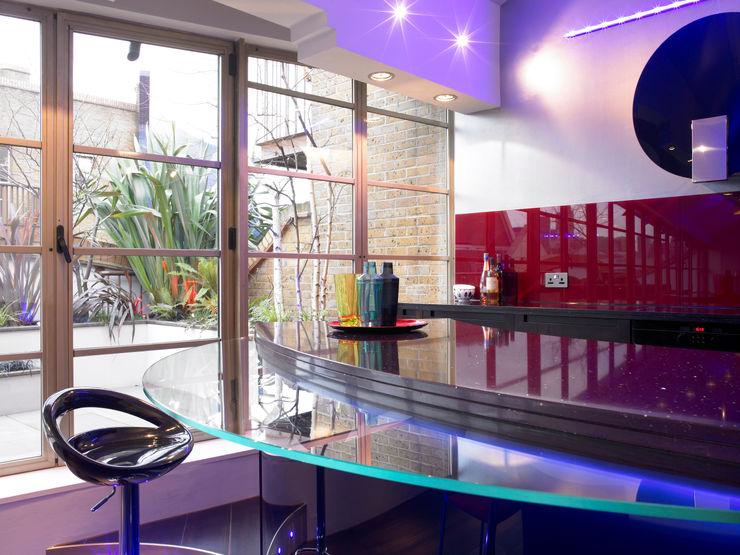Kitchen Interior Design Quirke McNamara Dapur Modern Red