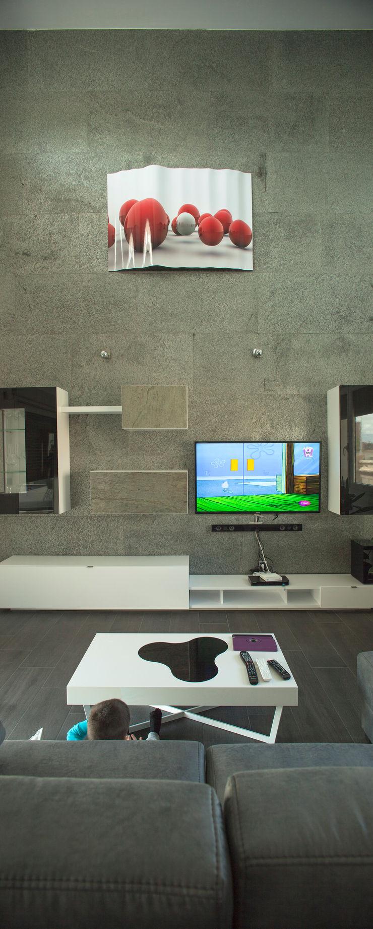 Casa AI Mascagni arquitectos Salones de estilo moderno