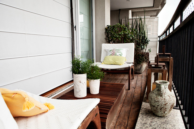 Vanderlei Camila Vicari Arquitetura da Paisagem Varandas, alpendres e terraços modernos